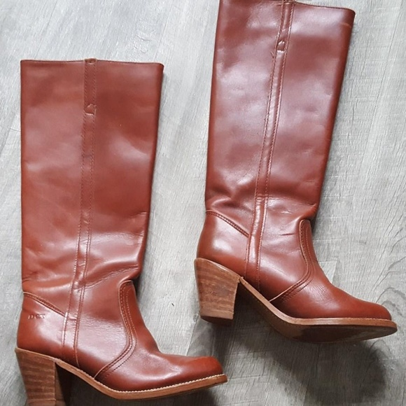 f191d6d58359c Vintage Rockabilly Leather Cowgirl Boots 6 Western